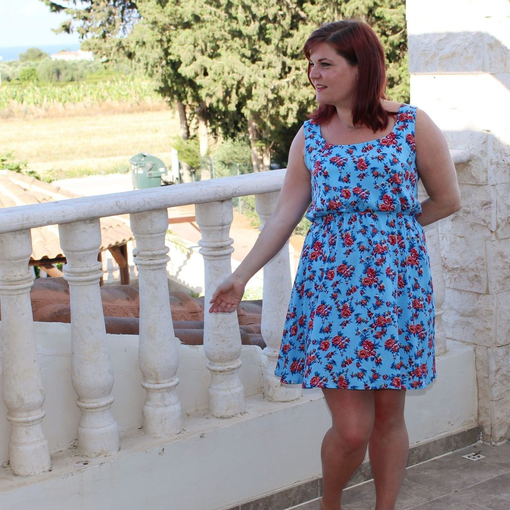Blue floral southport dress