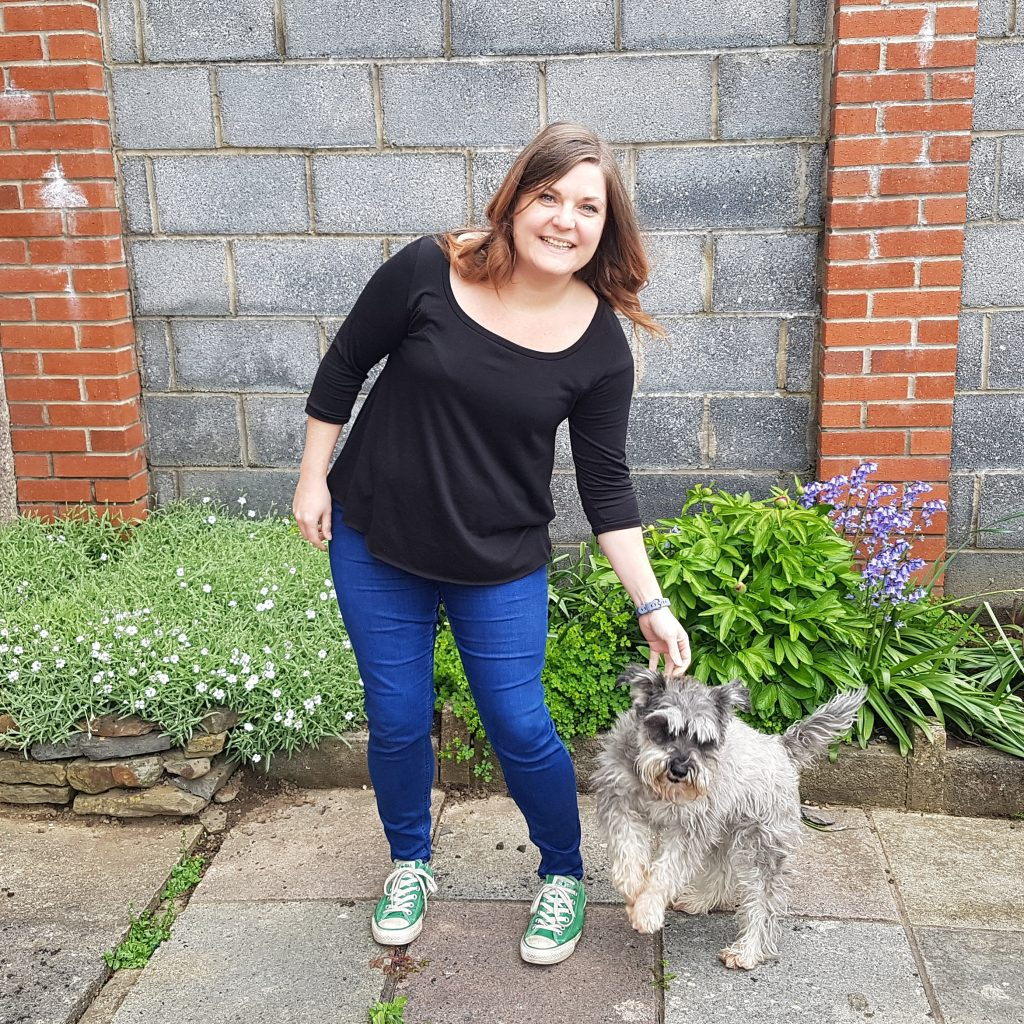 Me and a very scruffy miniature schnauzer
